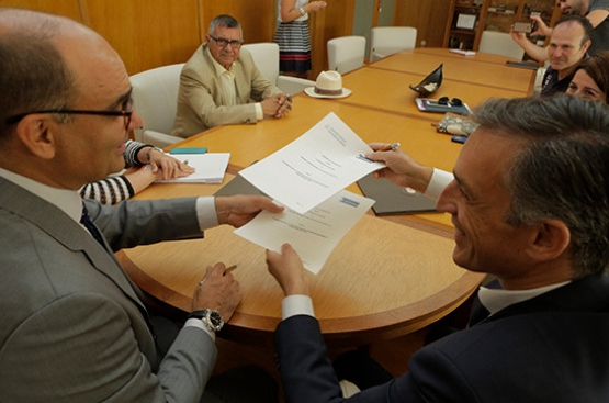 Signing of an agreement with the University of Alicante